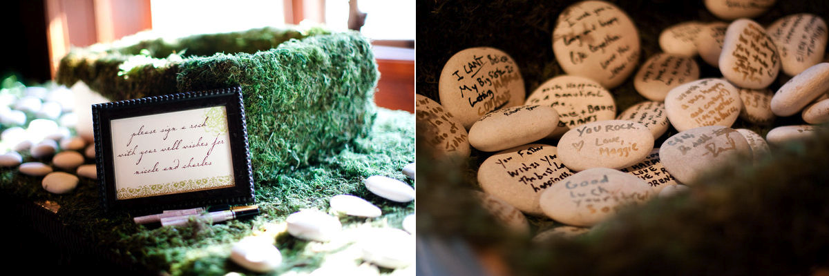 Wedding Reception Guest Book Unique Ideas Stones