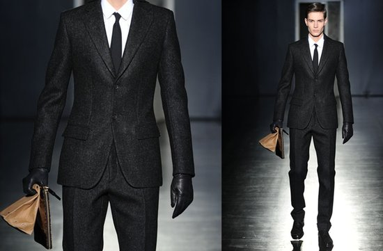 charcoal grey grooms suit 2012 menswear