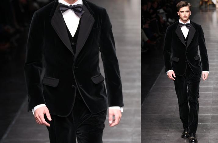 Black Velvet Suit Grooms Attire Fall Winter 2012 Dolce