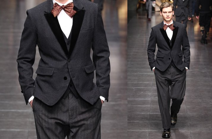 grooms suit bow tie paisley dolce gabbana