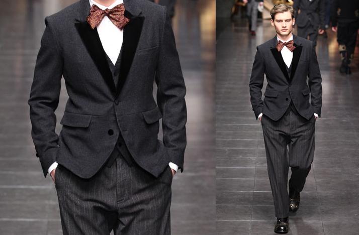 Groom Tie Groomsmen Bow Tie Grey Grooms Suit Bow Tie