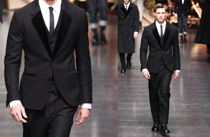 dolce gabbana grooms formalwear black suit