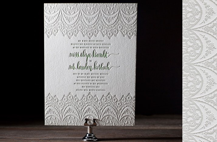lace wedding invitations letterpress 2012 wedding stationery romantic