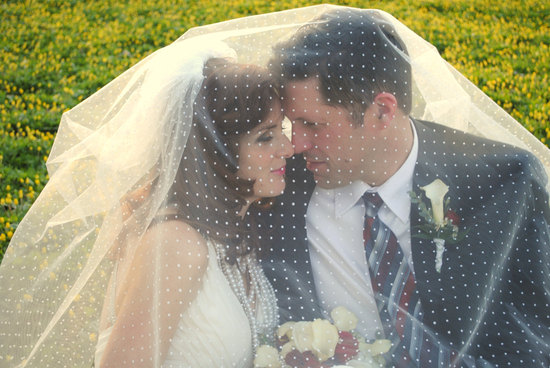 Cathedral length wedding veil swiss dot