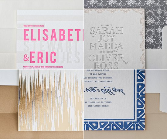 letterpress wedding invitations 2012 metallics wedding stationery