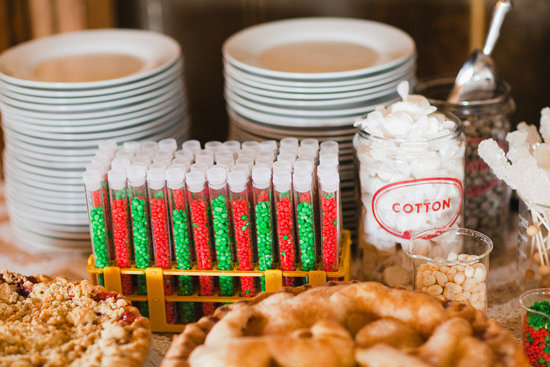 bright candy for wedding reception dessert bar