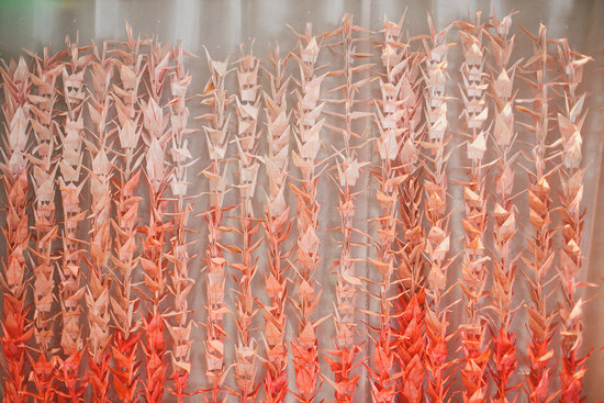 ombre guava wedding backdrop