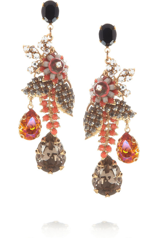 cocoa guava wedding earrings