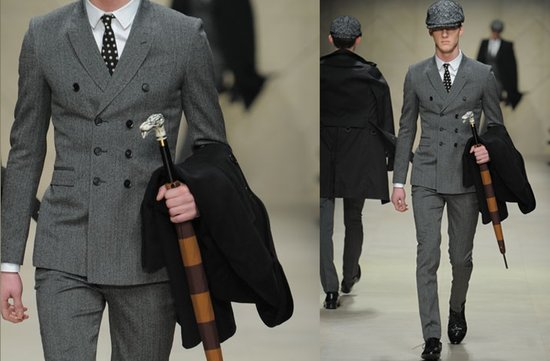 grey tailored suit grooms attire burberry