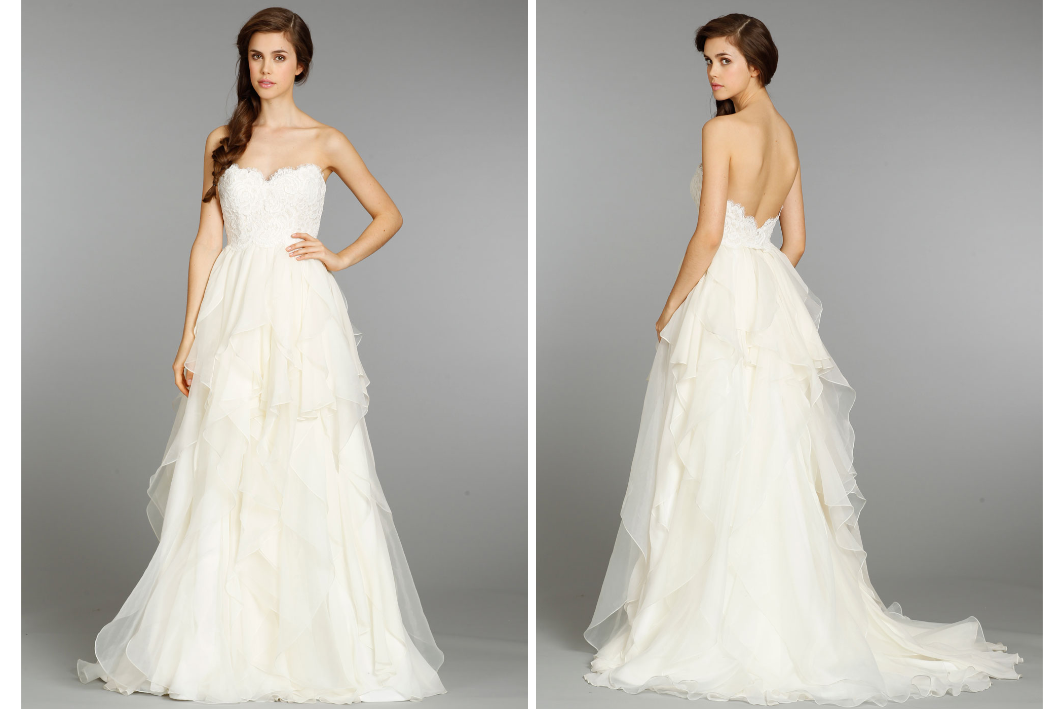 Hayley paige wedding dress fall 2013 bridal 6353 2 for Hayley paige wedding dress