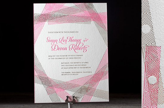 wedding invitations 2012 letterpress hot pink gold wedding invits