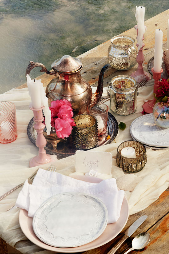 summer wedding tablescape decor from BHLDN