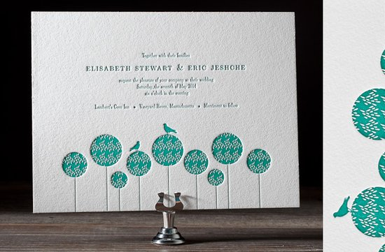 wedding invitations 2012 white aqua letterpress