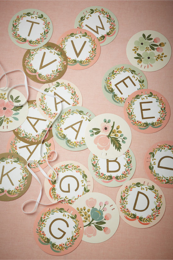 vintage romance wedding signs Cheers from BHLDN