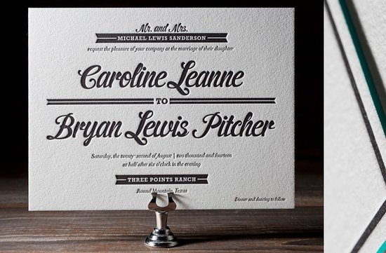 wedding invitations 2012 black white letterpress