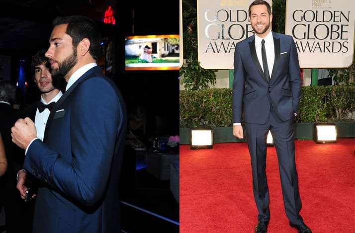 golden globes attire for grooms navy blue suit