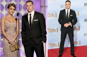photo of channing tatum golden globes 2012 grooms attire