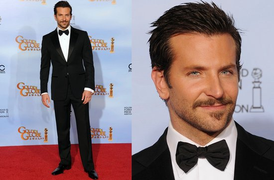 photo of grooms in tuxedos black tux red carpet 2012 golden globes