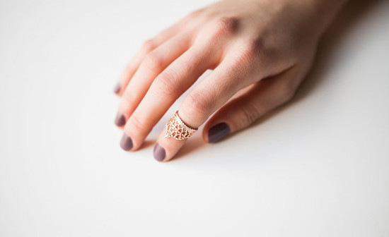 Forget Me Knot Rose Gold Top Finger Ring