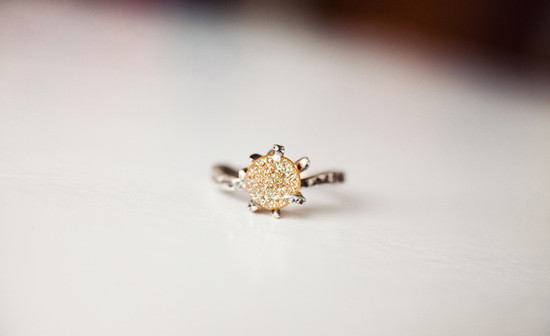 brown sugar druzy wedding or bridesmaid ring
