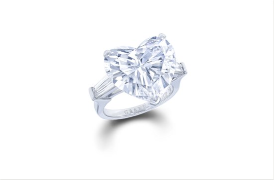 Flawless heart shape diamond engagement ring 10 ct 2