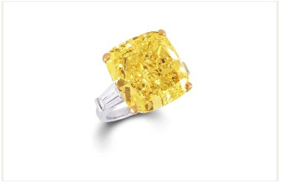 photo of Graff Diamonds engagement rings yellow diamond 38 carat 2
