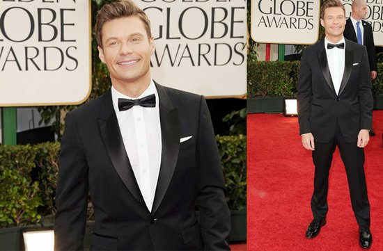 2012 golden globes red carpet inspiration grooms ryan seacrest