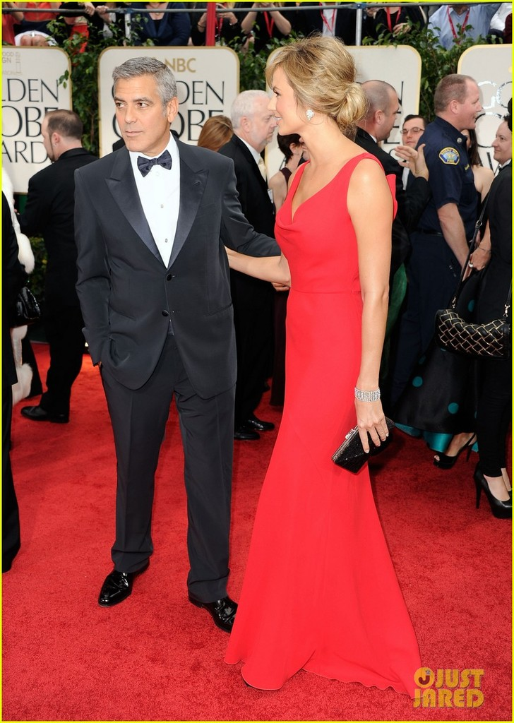photo of george clooney stacy keibler golden globes 2012 11