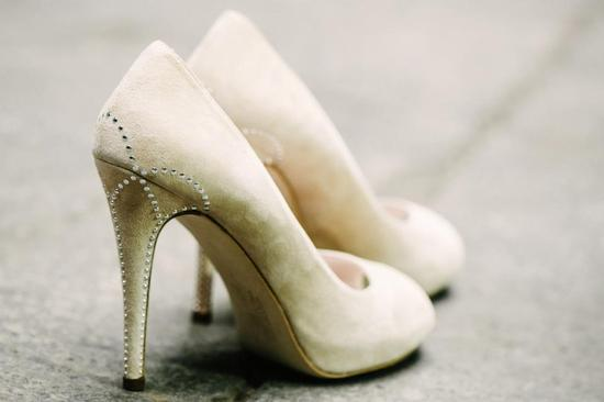 Wedding shoes by Harriet Wilde bridal heels RMW custom