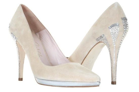 Wedding shoes by Harriet Wilde bridal heels suede with crystals