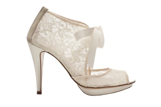 Wedding shoes by Harriet Wilde bridal heels Chantilly 2