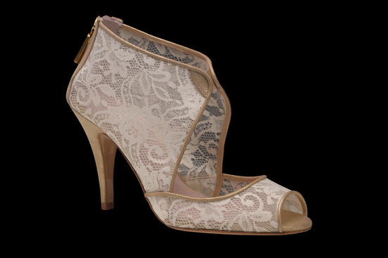 photo of Harriet Wilde wedding shoes Bohemian bridal heels