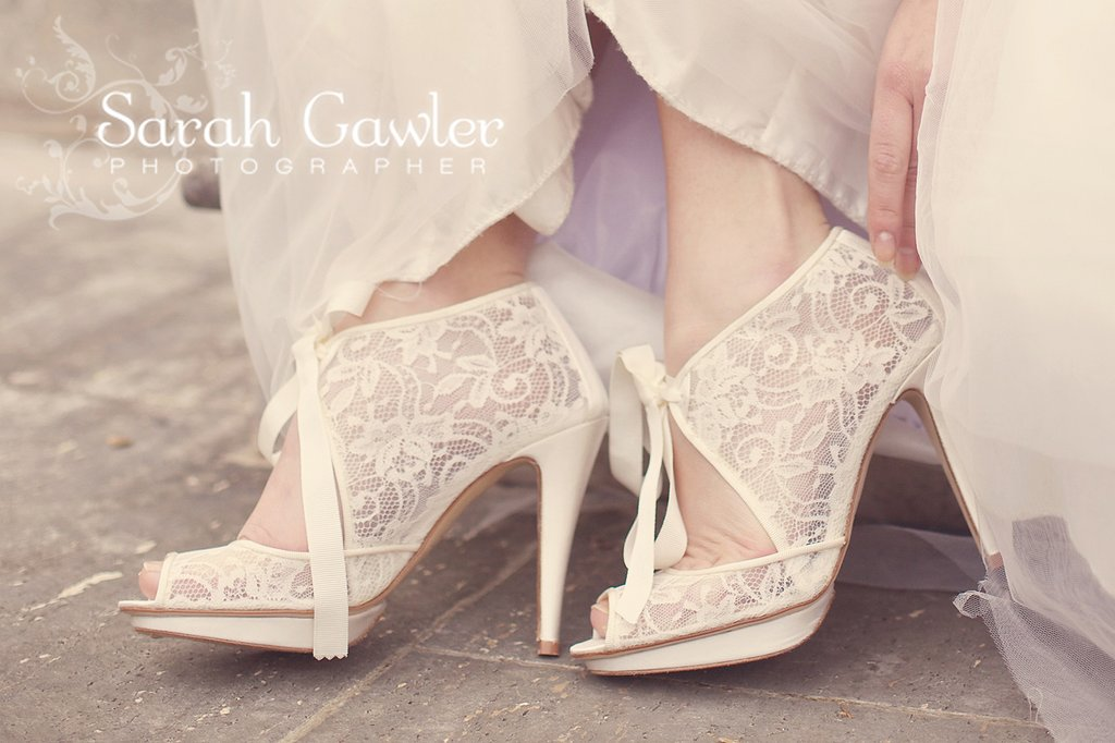 ivory lace bridal booties romantic