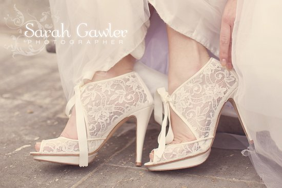 ivory lace bridal booties romantic wedding style