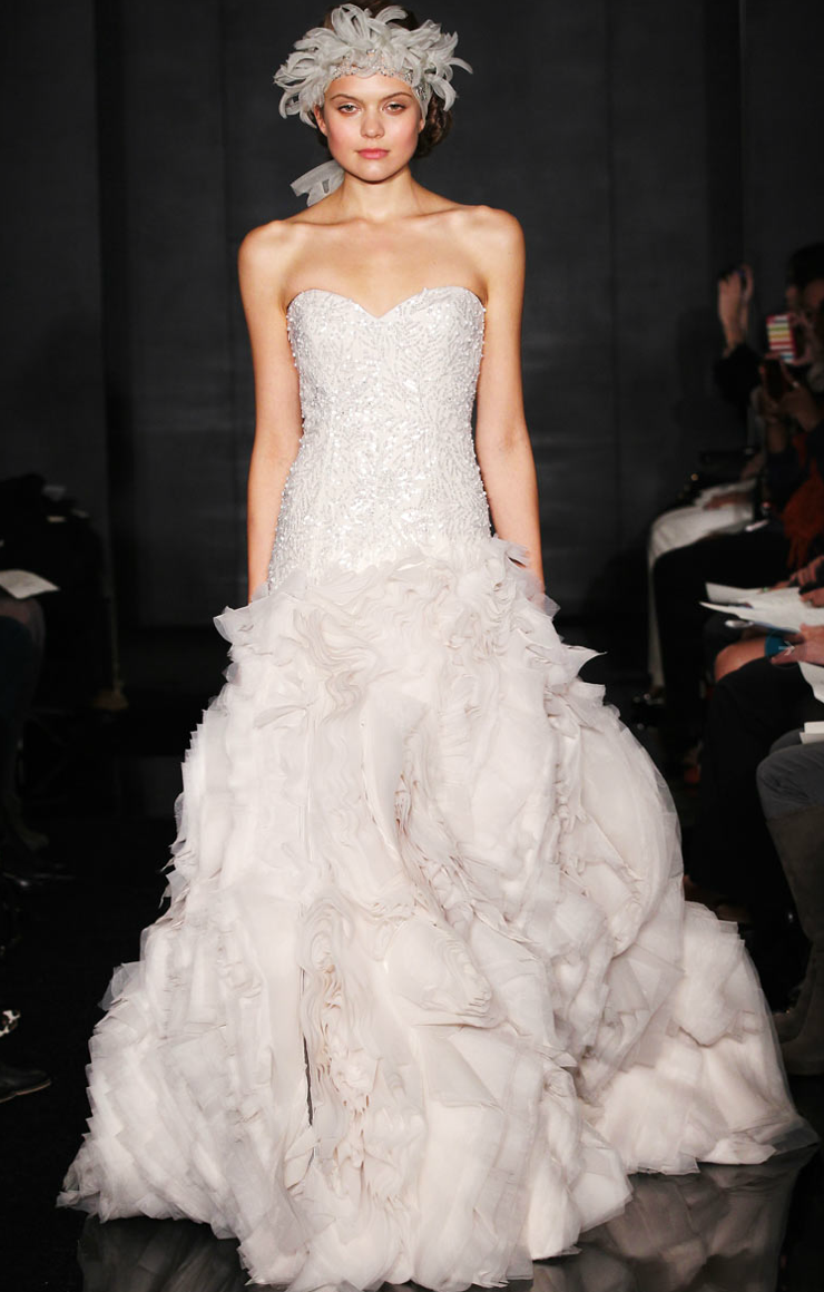 2012 wedding dresses beaded bridal gowns reem acra