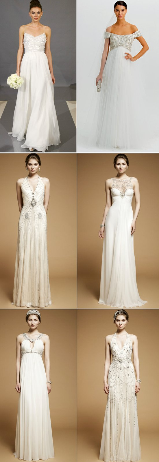 beaded wedding dresses 2012 bridal gown marchesa jenny packham