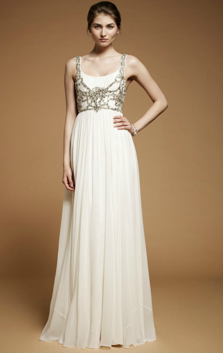 2012 wedding dresses beaded bridal gowns jenny packham for Beading for wedding dress