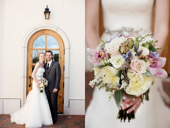 Winery wedding at Villa Bellezza romantic bridal bouquet