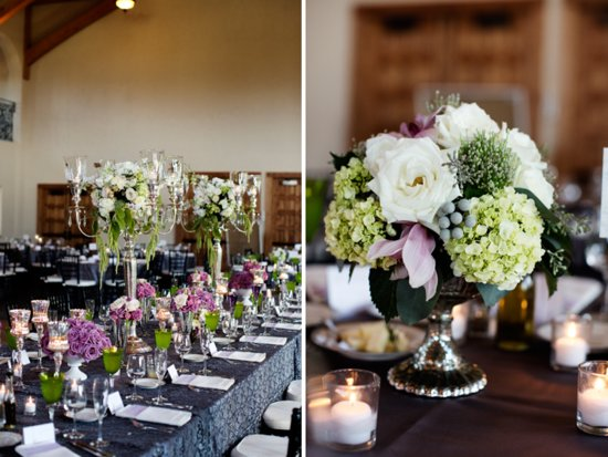 Winery wedding in Wisconsin romantic florals