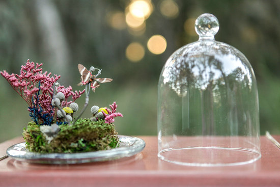 Wedding reception decor ideas butterfly terrariums