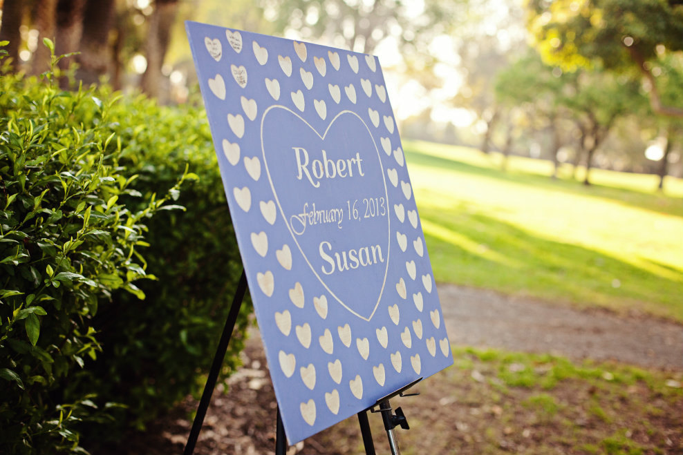 Unique wooden wedding guest book sign