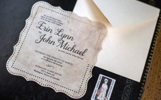 Simple wedding DIYs to try tea stained invitations