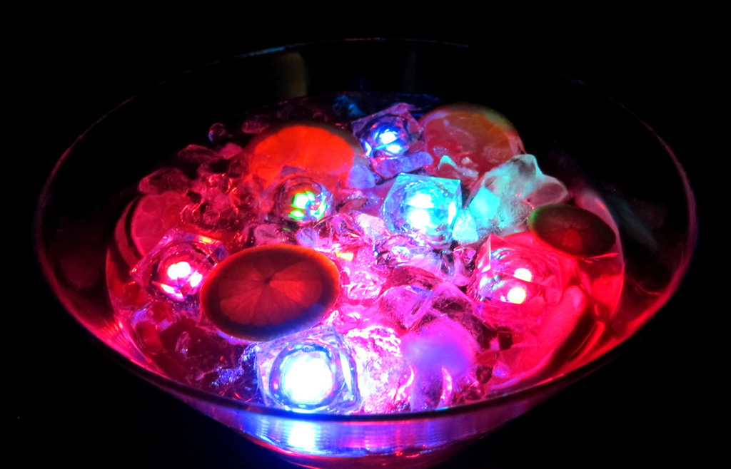 Glowing Martini For Wedding Reception