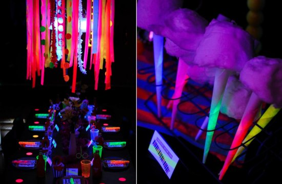 Glow in the Dark wedding ideas