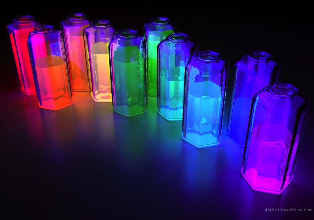glow in the dark diy bottles wedding reception decor