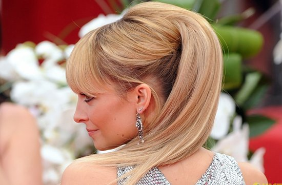 wedding hair ideas red carpet awards 2012 high ponytail