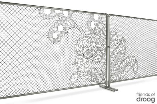Lace Obsessions fence for the reception