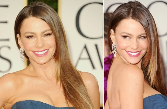 sleek wedding hairstyle 2012 golden globes