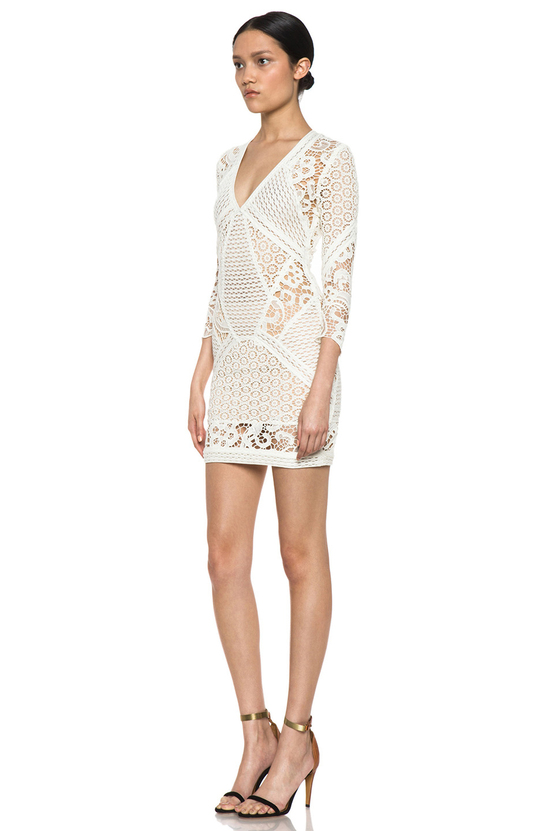 Lace crochet LWD for wedding reception