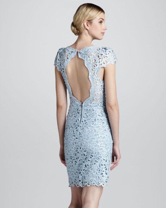 powder blue lace dress for the reception or bridesmaids